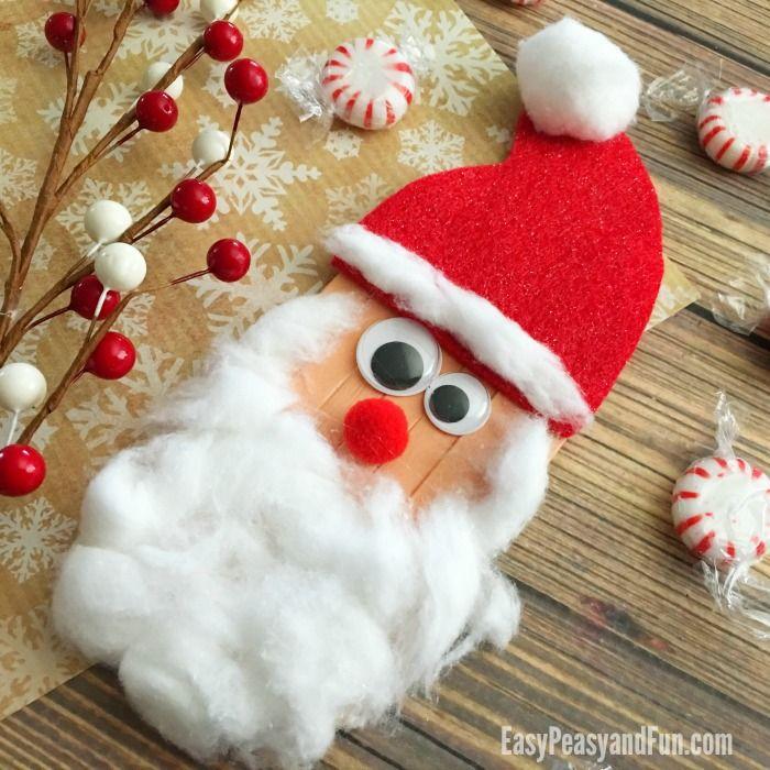 Easy Peasy And Fun Craft Sticks Santa Craft Christmas