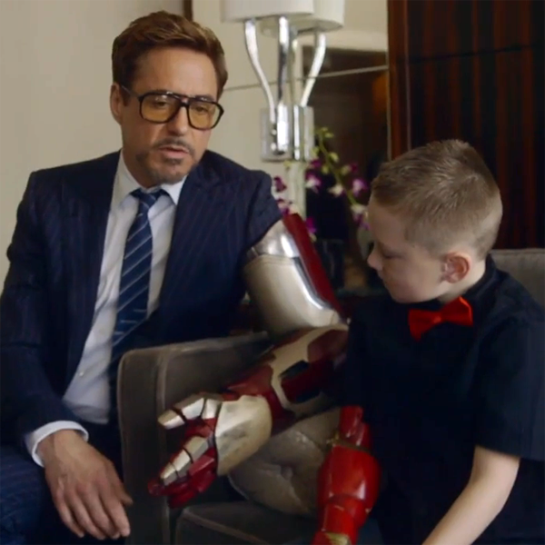 Robert Downey Jr. Presents 3D Printed Bionic Arm to Mini Iron Man on a unique spin-off of E-nable's 3D printed prosthetics project called . Headed up by E-nable volunteer and University of Central ...