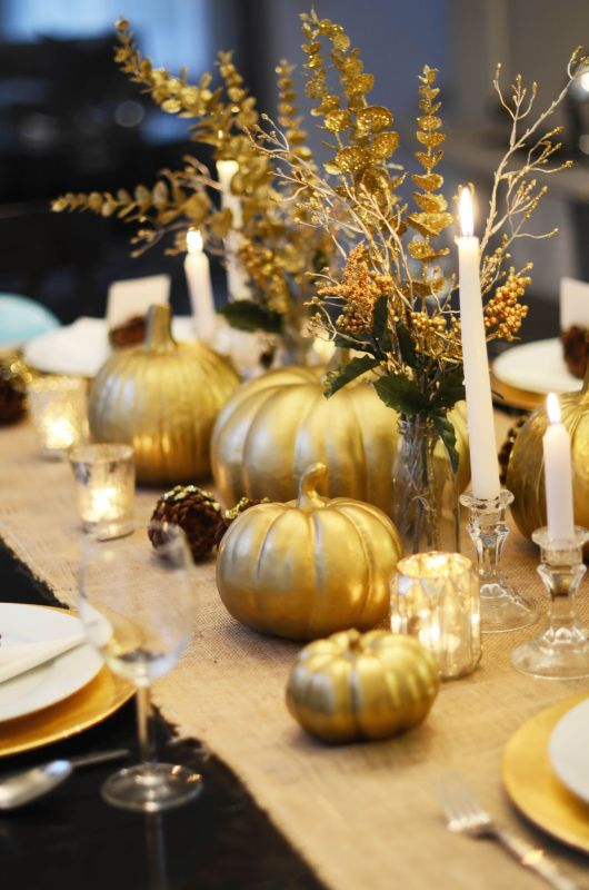 Decorating Ideas > DIY GOLD THANKSGIVING TABLESCAPE  Notey ~ 092318_Joanns Thanksgiving Decorations